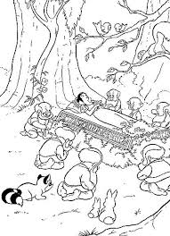snow white dwarfs coloring pages getcoloringpages