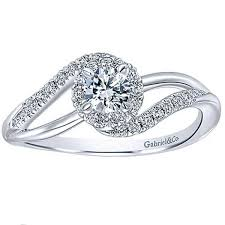wedding ring for gabriel 14k white gold diamond halo engagement ring