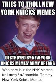Memes New York - tries to troll new york knicks memes destroyed by new york knicks