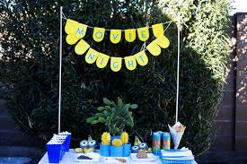 outside party minions outdoor movie night party u2014 all for the boys