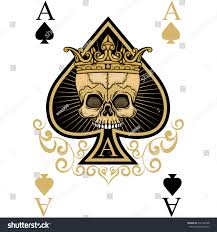 playing card ace spadesgothic coat arms stock vector 418132588 playing card ace of spades gothic coat of arms with skull vintage design