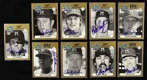 lot detail 1994 milwaukee brewers 25th anniversary signed
