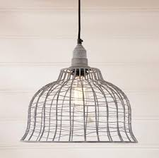 wire cage pendant light vintage wire cage pendant hanging light farmhouse country light