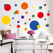 24 vinyl wall decals polka dots home garden home decor decals circle polka dots wall sticker removable vinyl decal mural living room