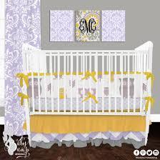 Yellow Crib Bedding Set And Yellow Owl Baby Crib Bedding Set