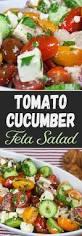 tomato cucumber feta salad don u0027t sweat recipe