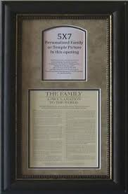 framed family proclamation the family a proclamation to the world framed with temple temple