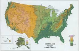 Michigan Elevation Map by Maps Of The Usa The United States Of America Map Library Where
