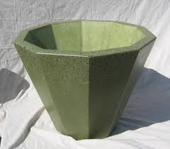 hand made 10 sided conical polished concrete planter by bohemian