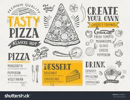 pizza food menu restaurant cafe design stock vector 635068961