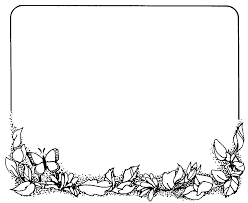 thanksgiving border clipart black and white clipartxtras