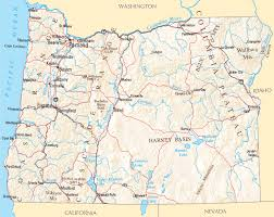 map of oregon freeways oregon map and oregon satellite images