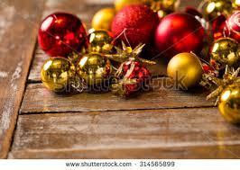close image christmas tree decorations laying stock photo
