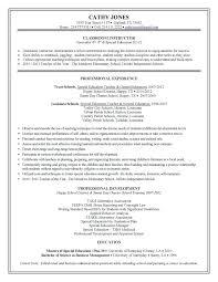 Resume Education Section Sample Resume For Education For Wording Format Sample Teacher