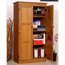 Oak Storage Cabinet Concepts In Wood Dry Oak Kt613a Storage Utility Closet Walmart Com
