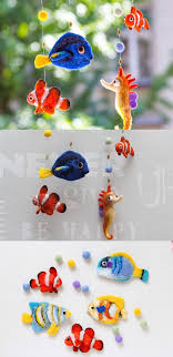 Fish Nursery Decor Finding Dory Baby Mobile Needle Felted Fish Nursery Decor
