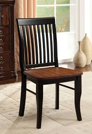 furniture of america pinkas antique oak and black dining chair