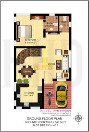 Home Design For 4 Cent by 1197 Sqft 3 Bedroom Villa In 3 Cents Plot House Design Plans