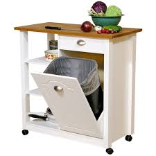kitchen island with trash bin kitchen cart trash bin home design photo gallery