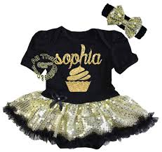 glitter dresses for new years cupcake tutu dresses for babies birthday black and gold