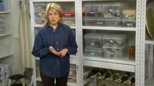 video basement shelves martha stewart