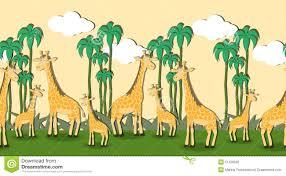 seamless pattern with cartoon giraffes stock vector image 51228026