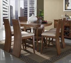 milan rounded triangular counter height leg table dining room set