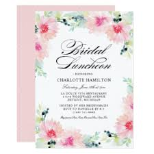 bridal lunch invitations bridal luncheon invitations announcements zazzle