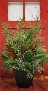forest lake floral gift outdoor winter containers pinterest