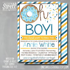 baby shower brunch invitations brunch doughnut invitation baby shower sprinkle boy baby shower