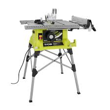 Wood Saw Table Ryobi 10 In Portable Table Saw With Quick Stand Rts21g The Home