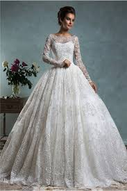 vintage lace wedding dress gown bateau neck sleeve vintage lace wedding dress