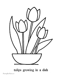 coloring pages stunning tulip coloring pages download