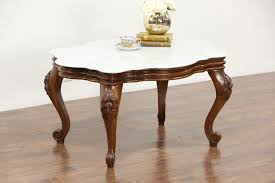 value of marble top tables victorian style vintage marble top coffee table carved walnut