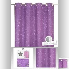 rideau pour chambre bébé rideau occultant violet étoilé pour chambre enfant achat vente