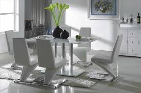 dining table sets six grey chair contemporary room set modern six