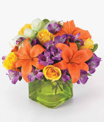 Yellow Orange Flowers - orange lilies yellow roses and purple alstroemeria orange