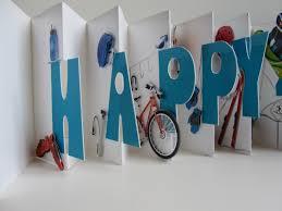 happy 40th birthday original design accordion pop up book card