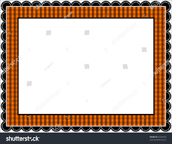 halloween gingham frame gingham patterned frame stock vector