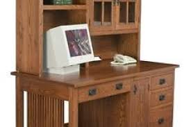 mission style computer desk wood home office amish mission computer desk hutch solid wood home