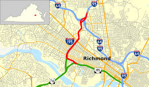Richmond Virginia Map by Interstate 195 Virginia Wikipedia