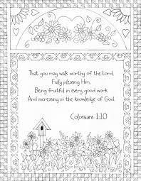 colossians 1 10 bible coloring page that you may walk worthy of