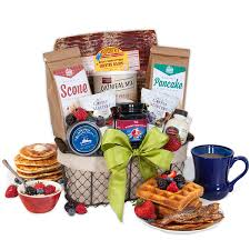 breakfast gift baskets breakfast gift basket deluxe by gourmetgiftbaskets