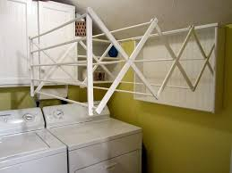 Space Saving Laundry Ideas White by Creative Laundry Room Ideas Cascading Accordion Laundry Room