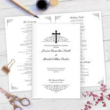 catholic wedding program cover catholic wedding programs diy catholic wedding program