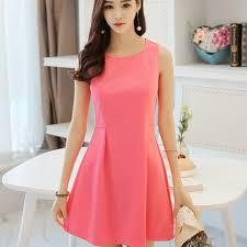 dress pink simple casual dress pink w003qpk