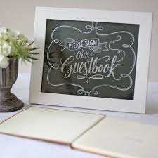 wedding guest book sign sign our guest book chalkboard style print by the wedding