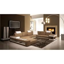 canap d angle en cuir marron canapé d angle panoramique en cuir marron et blanc achat vente