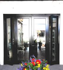 Wooden French Doors Exterior by White Color Exterior Wood Double French Doors With Sidelights For