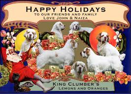our christmas cards king clumber spaniels